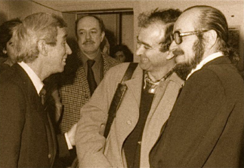 Hergé i Wolinski, el 1977