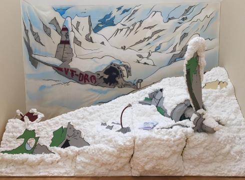 Reproducció de l'escena de Tintín al Tibet